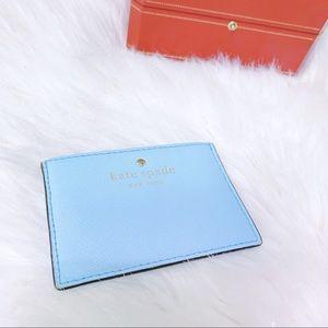 KATE SPADE Card Holder Mini Wallet Sky Blue